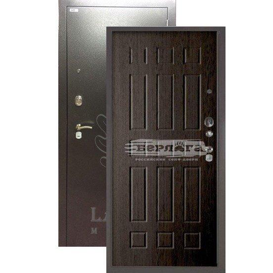 Стальная дверь БЕРЛОГА 3К Брасс Венге