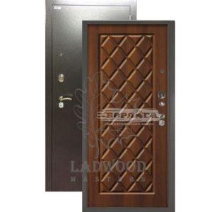 Стальная дверь БЕРЛОГА Чикаго Дуб рустикальный