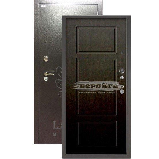 Стальная дверь БЕРЛОГА 3К Геометрия Венге