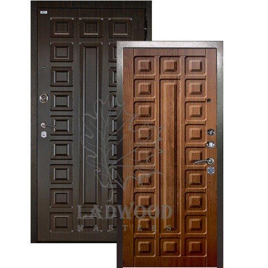 Входная дверь Берлога 3К 2П СЕНАТОР_Сенатор Дуб рустикальный