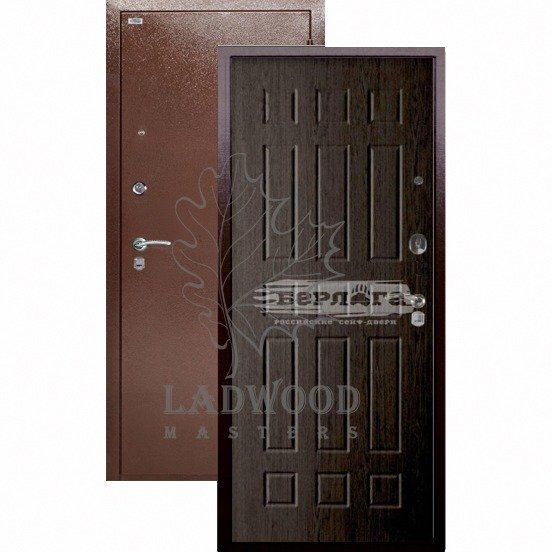 Входная дверь Берлога Оптима БРАСС Венге