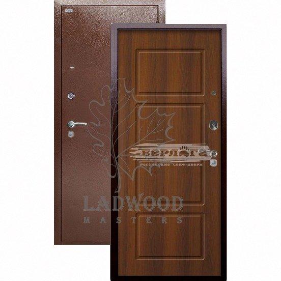 Входная дверь Берлога Оптима Геометрия Дуб Рустикальный