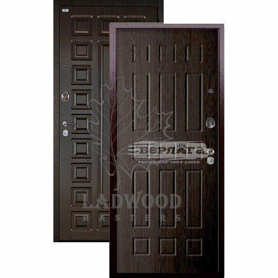 Входная дверь Берлога Оптима+ Сенатор Брасс венге