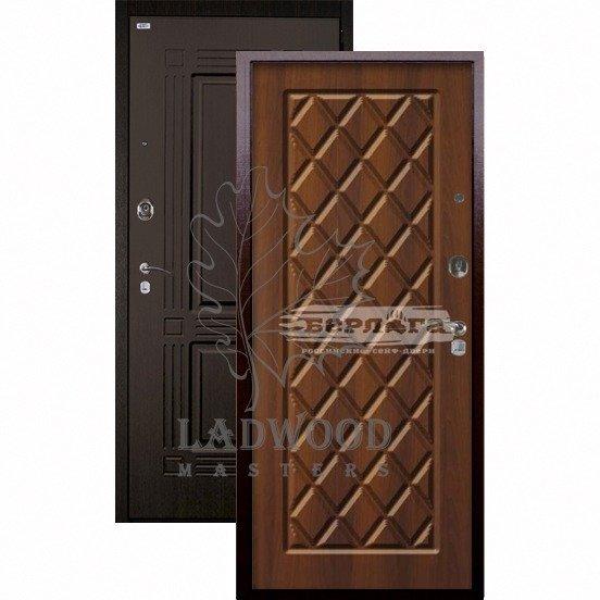 Входная дверь Берлога Оптима+ Триумф Чикаго Дуб рустикальный