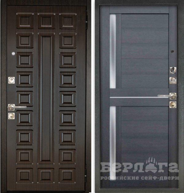 Входная стальная дверь БЕРЛОГА 3К 2П КВАДРО