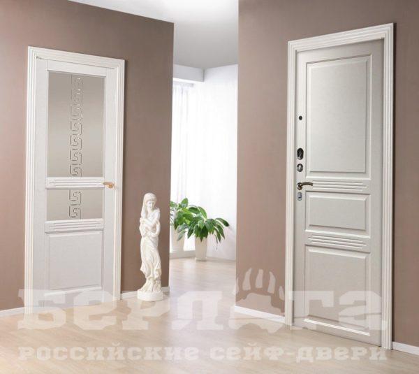 дверь Берлога 3К_Джулия белый жемчуг