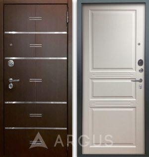 Дверь АРГУС Люкс ПРО 2П Джулия-2 белый жемчуг